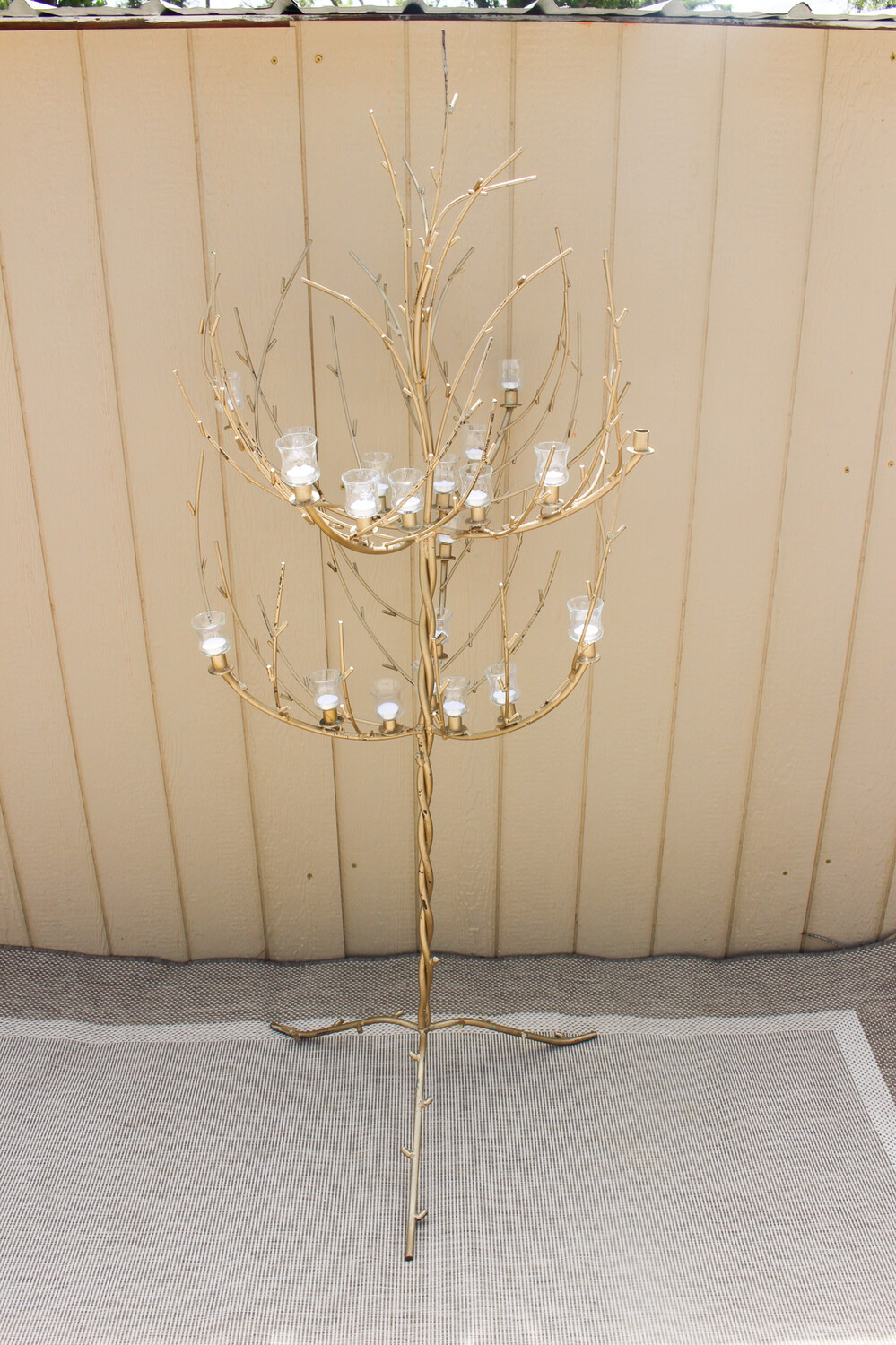 Champagne Trees- 2 sizes- Come with Glass Votive Holders