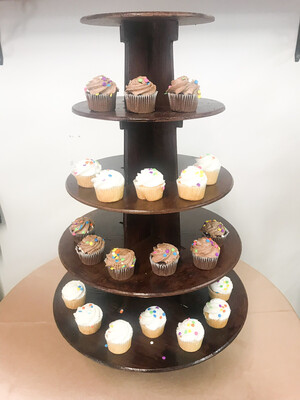 Brown 5-tiered Cupcake Stand