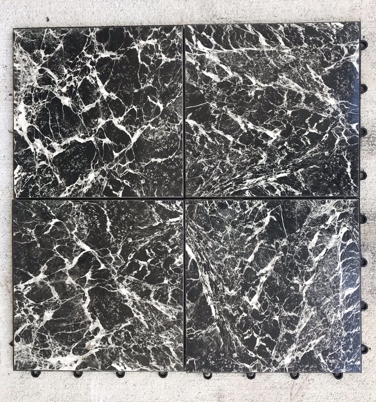 Dance Floor- Black & White Marble