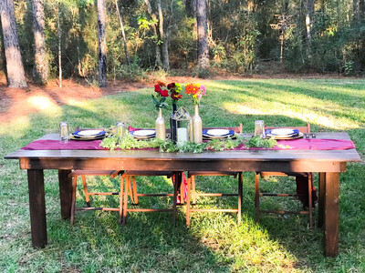 8ft Farmhouse Table