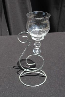 1L Silver Swirl with Teardrop Glass