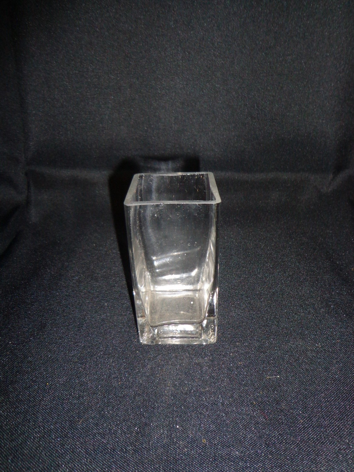 """Square Glass Vase 4"""" Tall 2"""" Wide"""