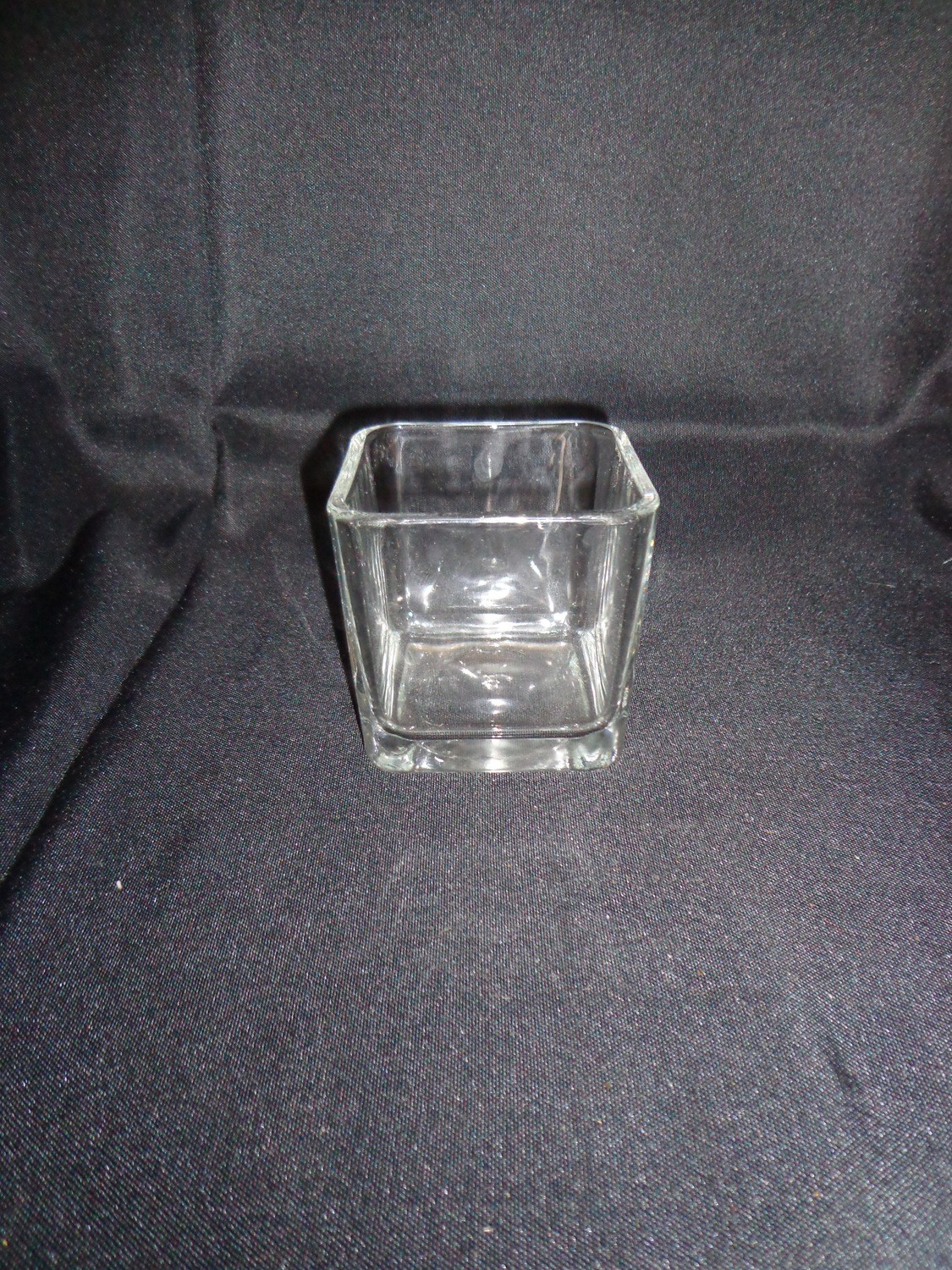 """Rectangular Glass Vase 6"""" Tall 6"""" by 3"""" Wide"""