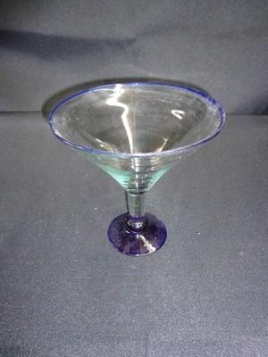 Martini Glass Vase - Blue 7