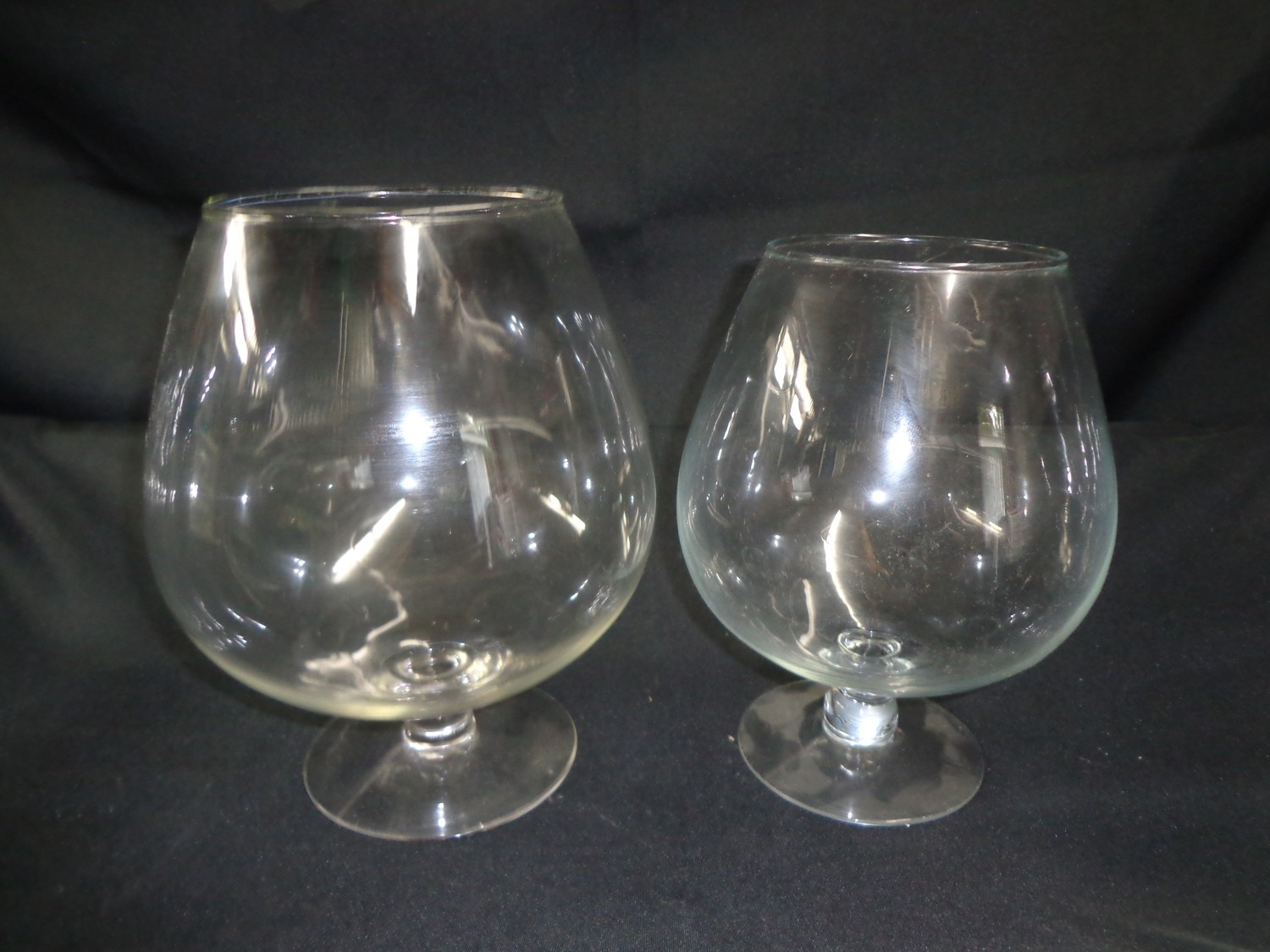 "Brandy Snifter Glass Vase 9.5"" Tall 4.5"" Wide"