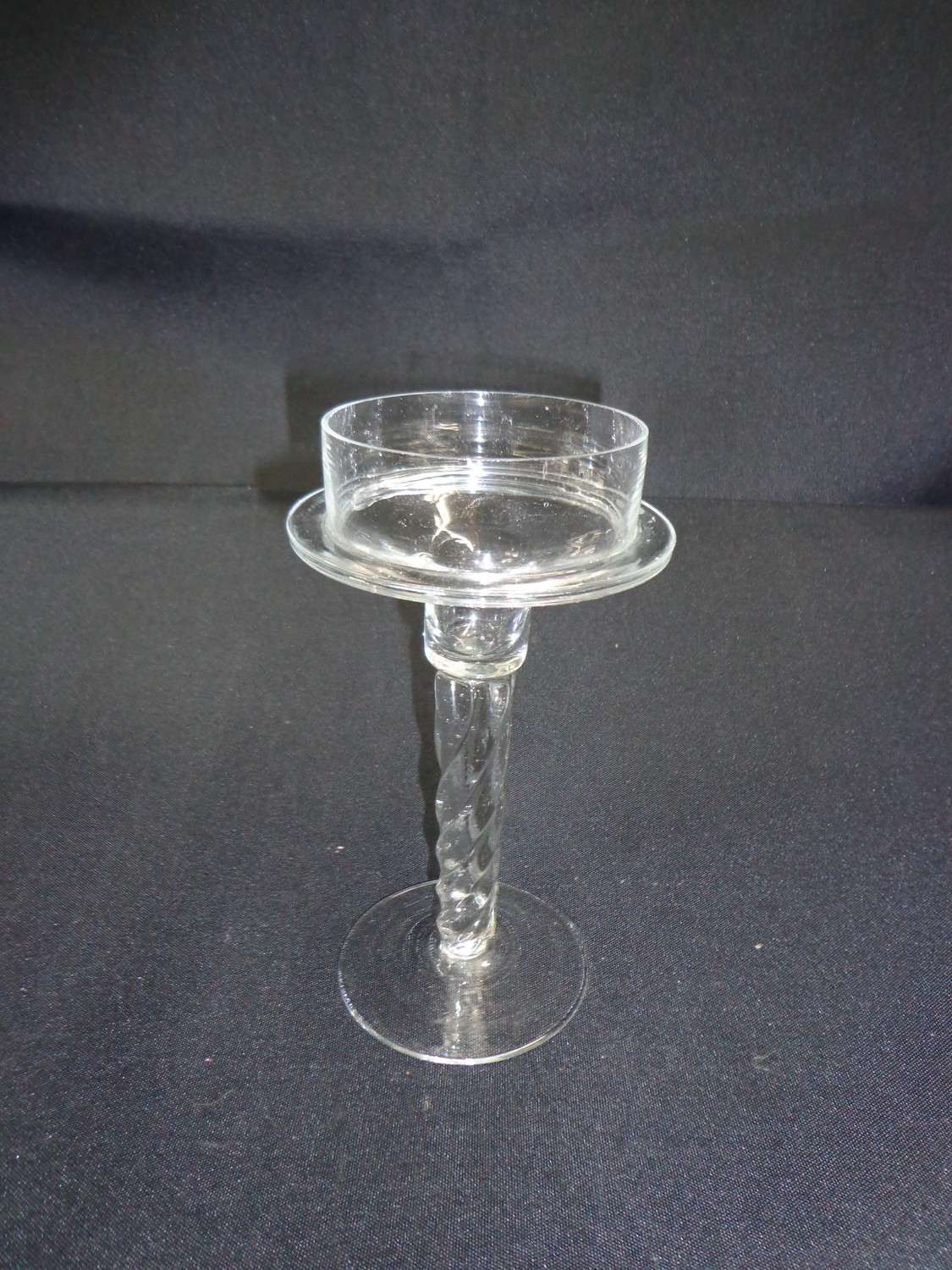 """Candle Holder Glass - For Pillar Candle 7.5"""" Tall"""