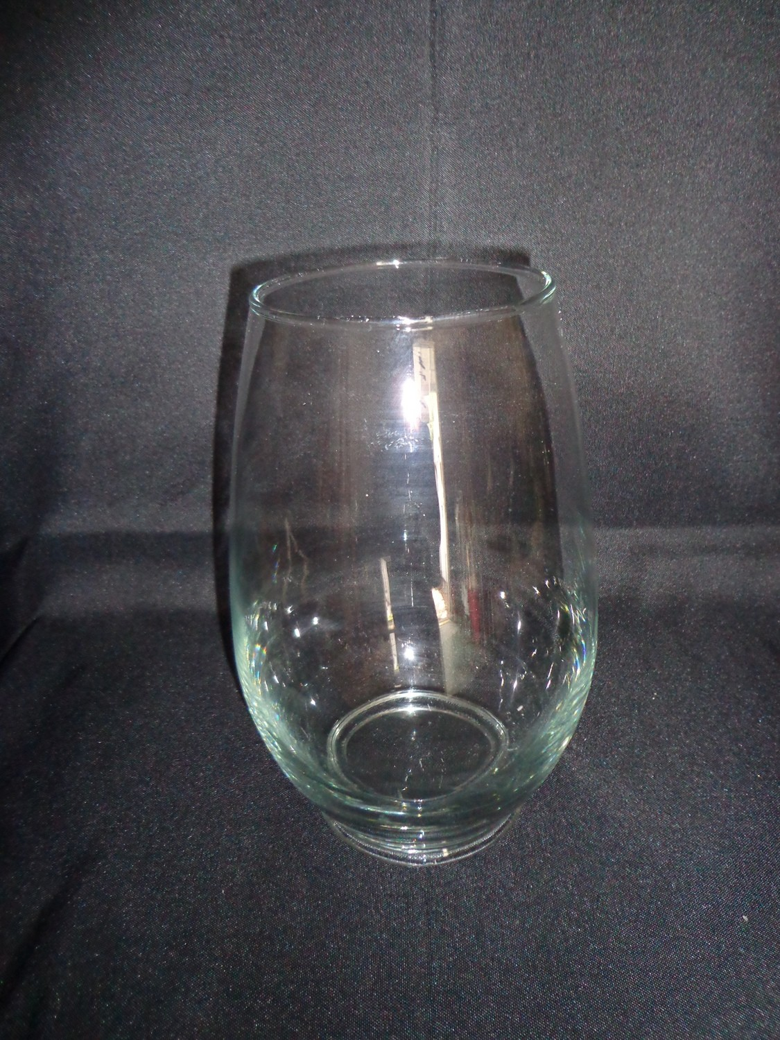 """Glass Vase 9"""" Tall 4"""" Wide"""