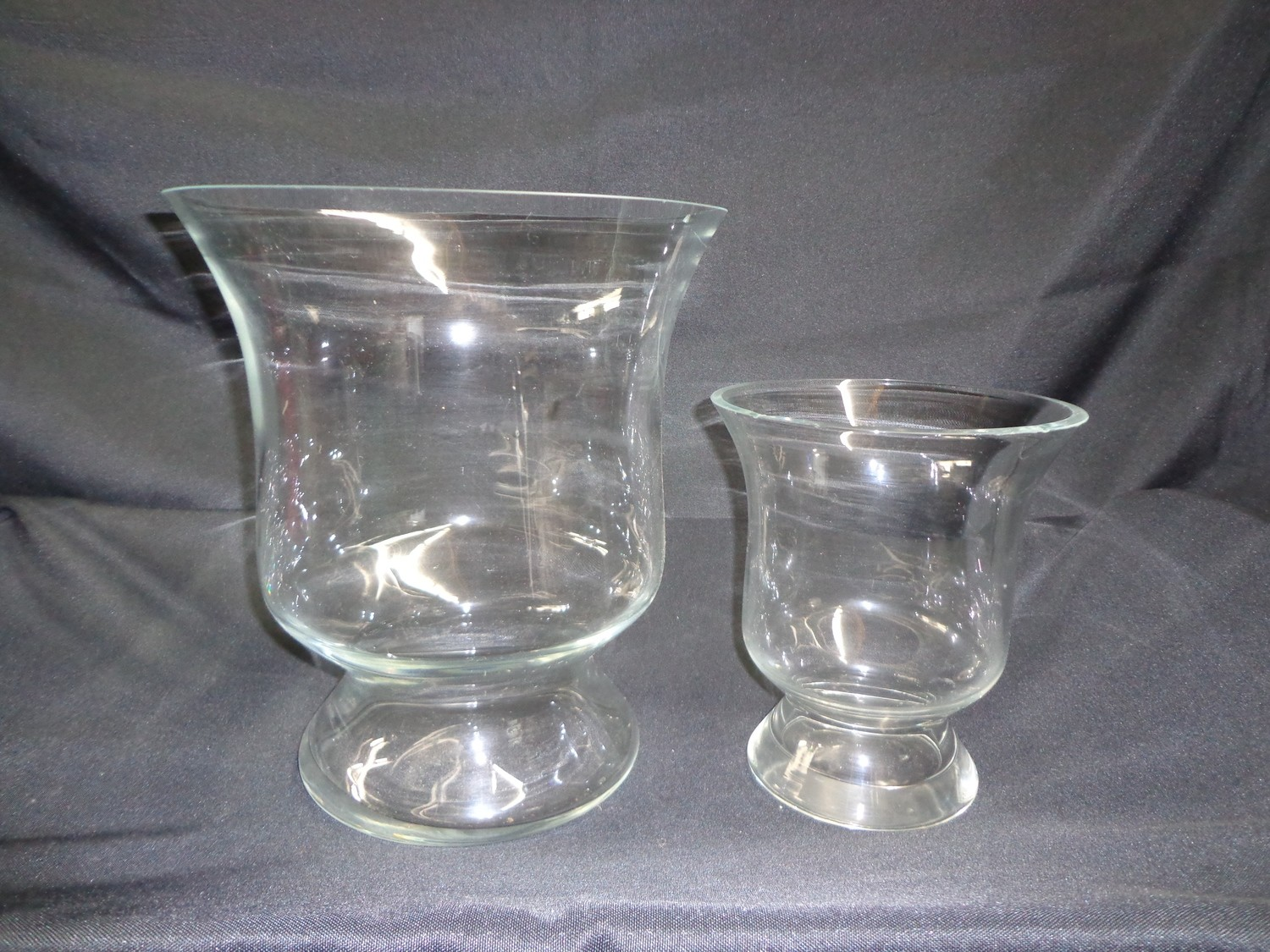 "Goblet Glass Vase 12"" Tall 11"" Wide"