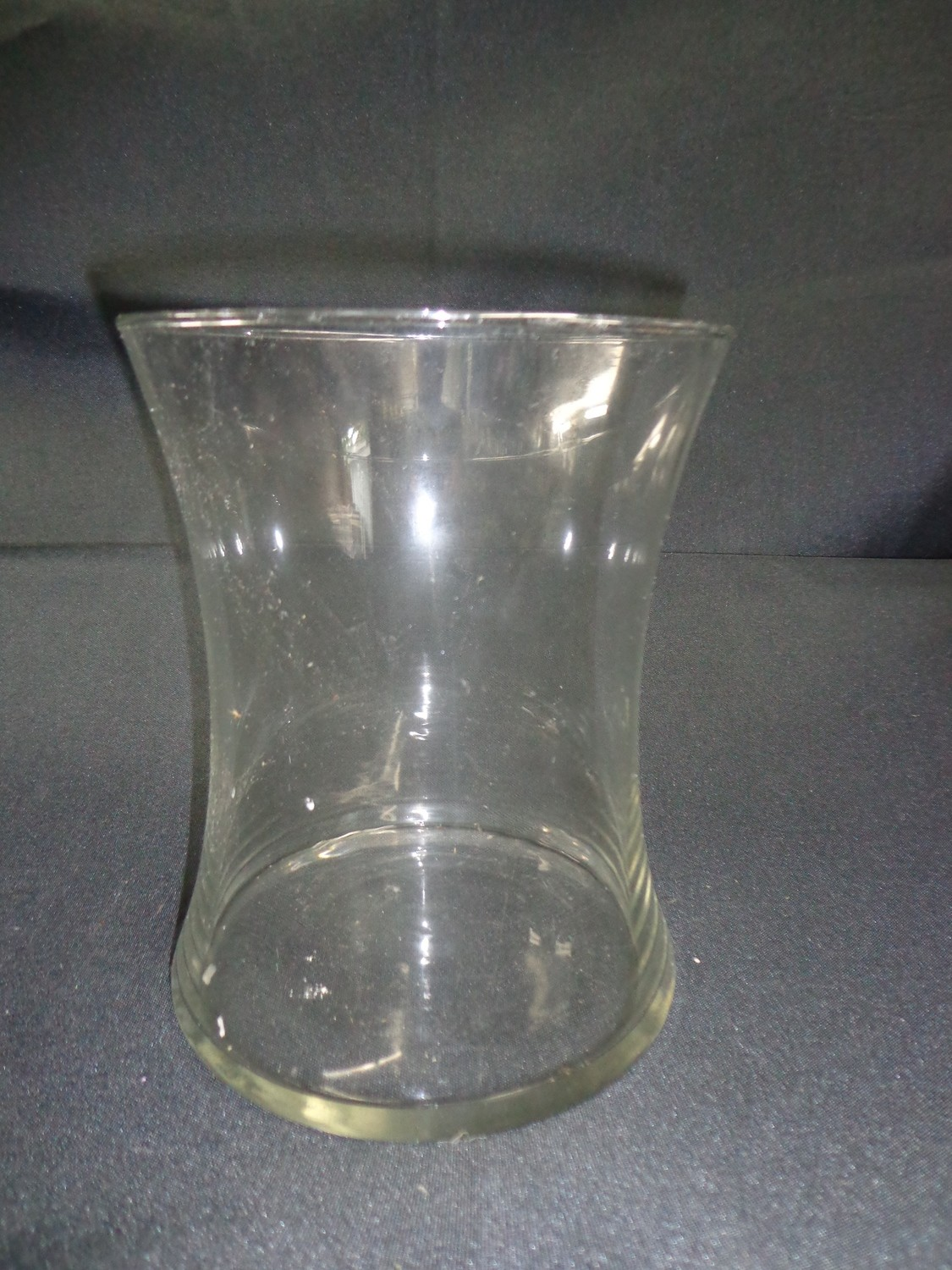 "Wide Glass Vase 8"" Tall 6"" Wide"