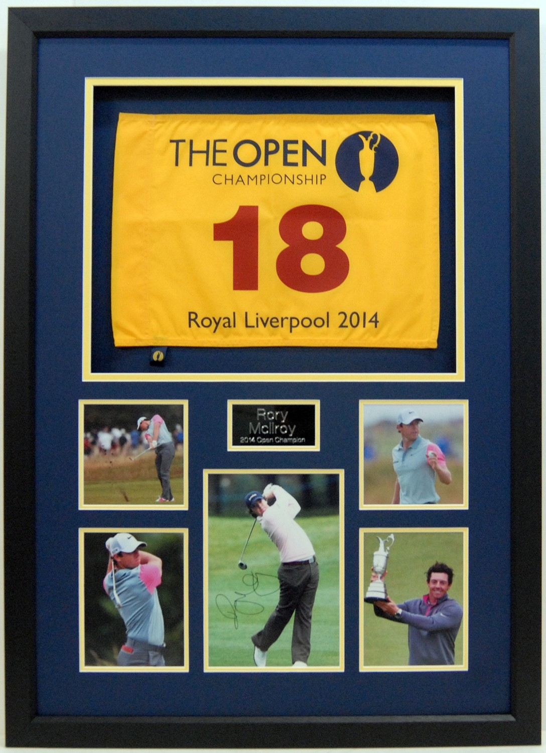 Rory McIlroy Signed Display