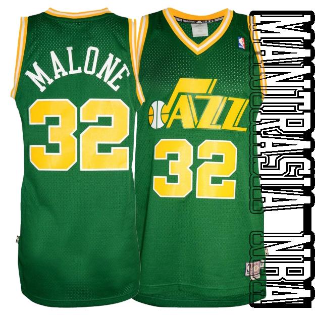super popular 49a3c e2bef Utah Jazz MALONE 32 RETRO GREEN