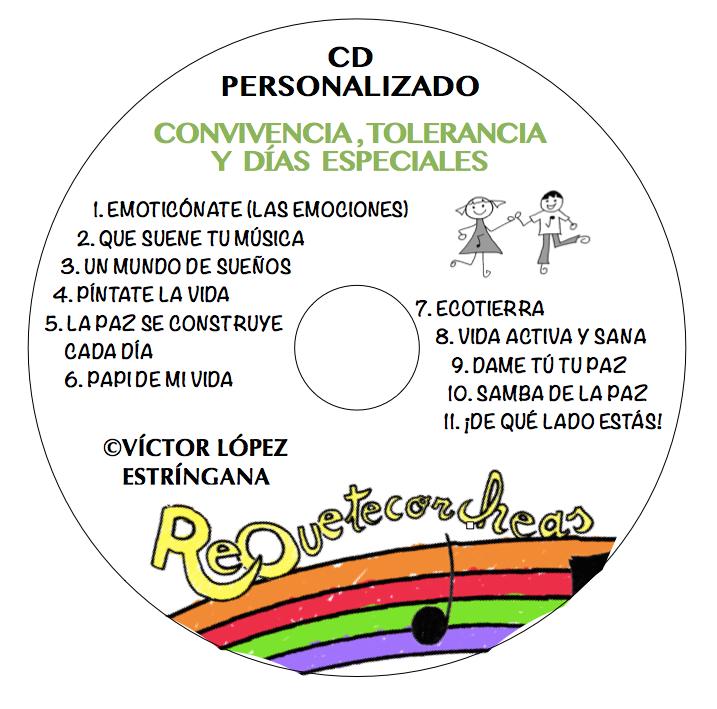 CD PERSONALIZADO CONVIVENCIA Y VALORES