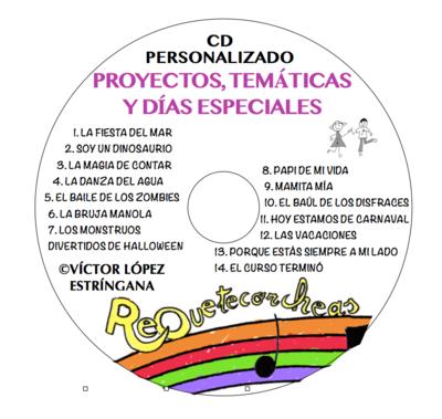 CD PERSONALIZADO PROYECTOS Y DÍAS ESPECIALES