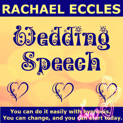 Wedding Speech Confidence 2 trck Hypnotherapy Self Hypnosis CD
