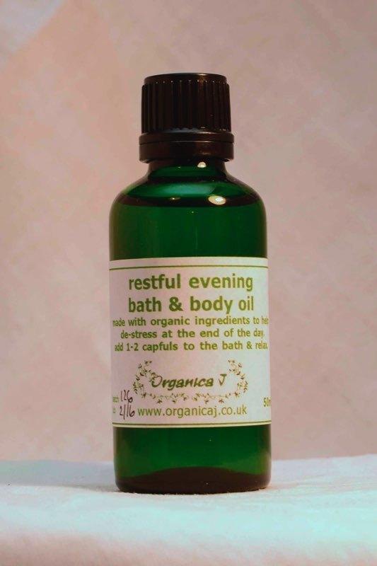 Restful Evening Aromatherapy Bath & Body Oil 0BB004