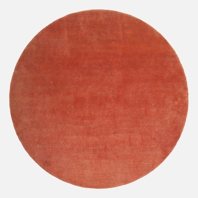 Wool and bamboo orange mixed ply circle size 210x210 was £900
