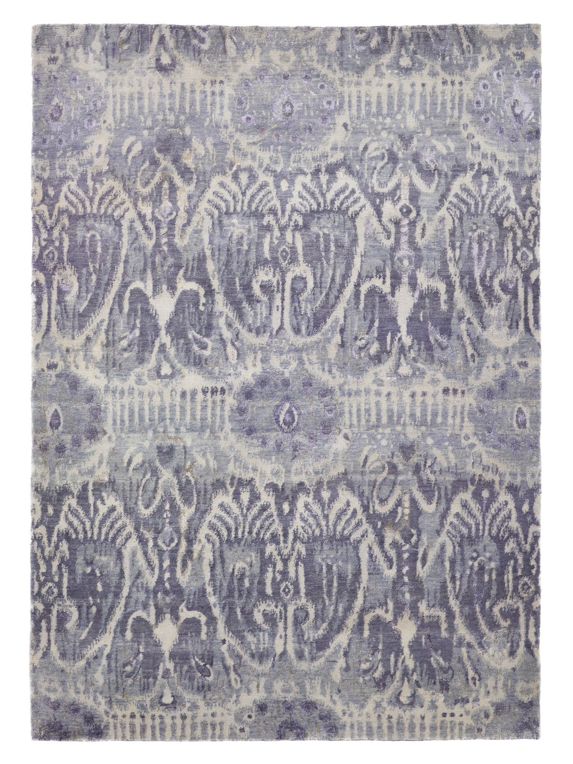 Indian Ikat wool and viscose rug 240 x 170 Final Reduction
