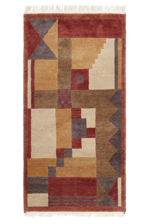 Old Nepalse wool rug size 180 x 94