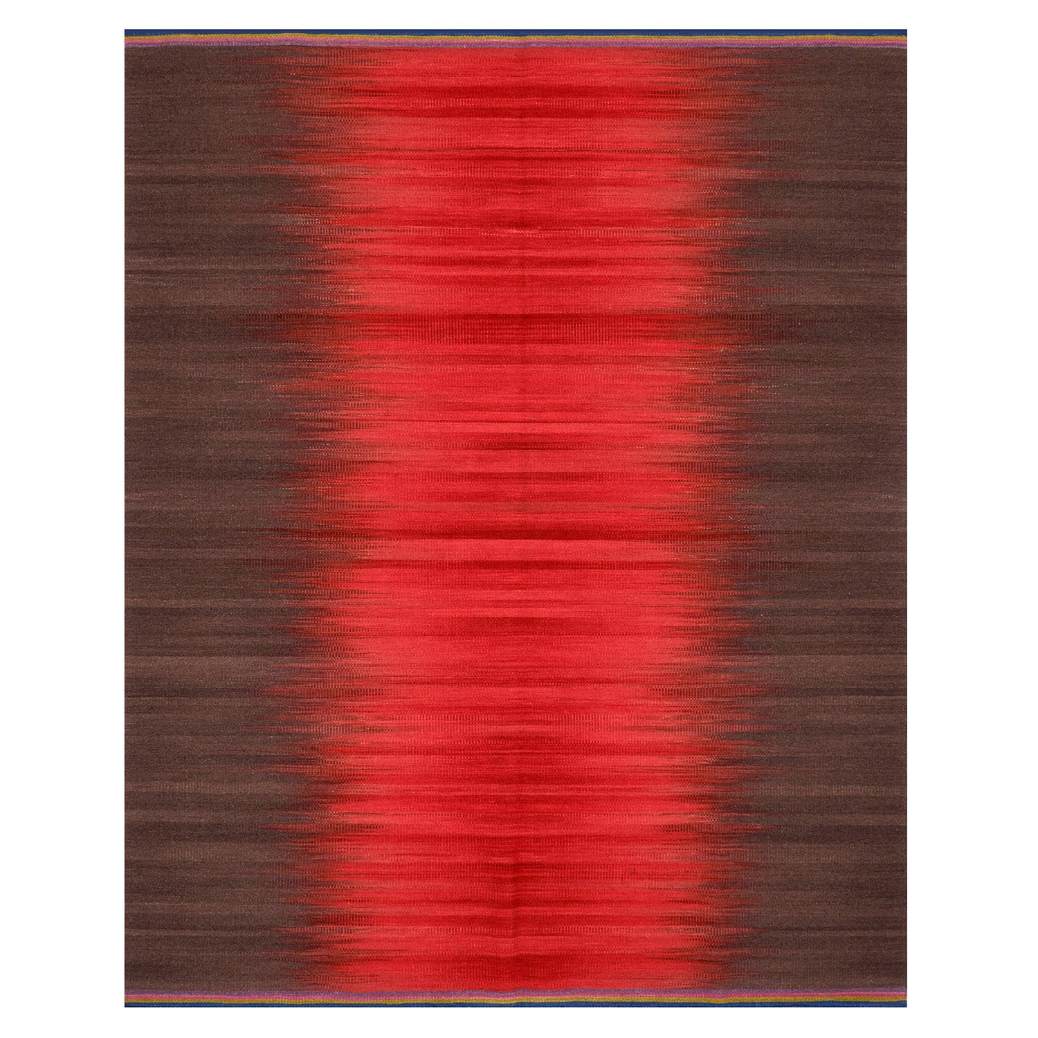 Indian Gelim flatweave red and charcoal 300 x 240 was £1795