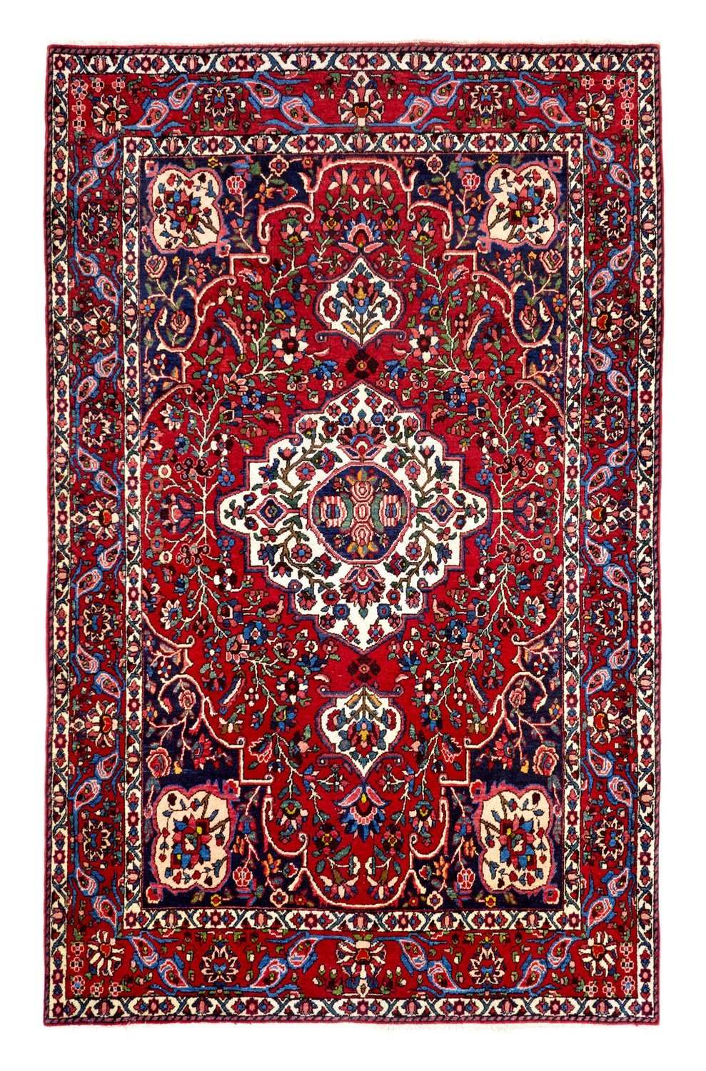 Old Persian Bakhtiari rug size 2.06 x 1.47 was £1,495