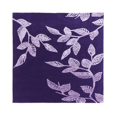 Nepalese wool and silk purple leaves size 120 x 120 was £390