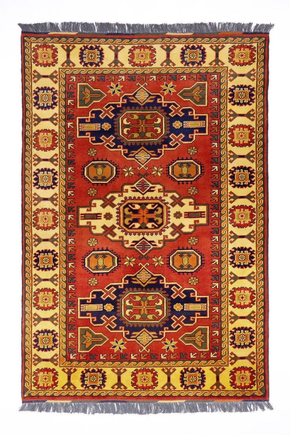 Afghan Azeri rug size size 1.79 x 1.23 Final Reduction
