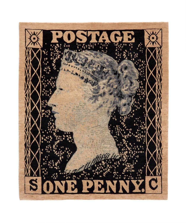 Penny Black Stamp Rug 120 x 100 cm £695
