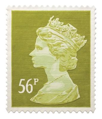 Olive 56p Stamp Rug 120 x 100 cm