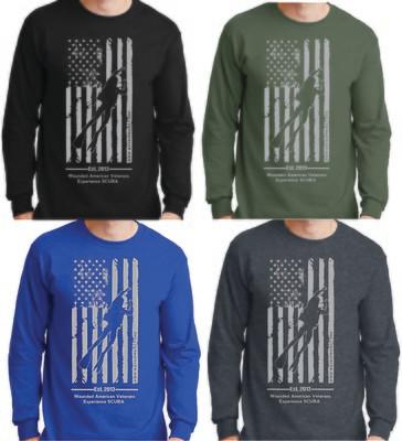 WAVES Long Sleeve Flag Shirts
