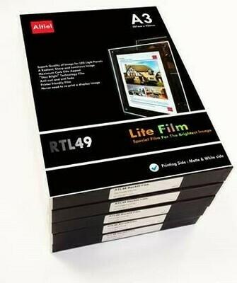 Backlit Photo Paper for A3 or A4 LED Light Pockets