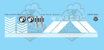 Lake State Railway GP40 GP40M-3 Locomotive Decals HO Scale