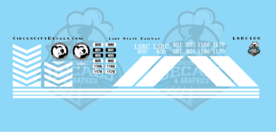Lake State Railway GP40 GP40M-3 Locomotive Decals N Scale