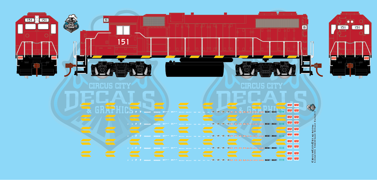 Modern Locomotive Underframe Details HO Scale Decal Set