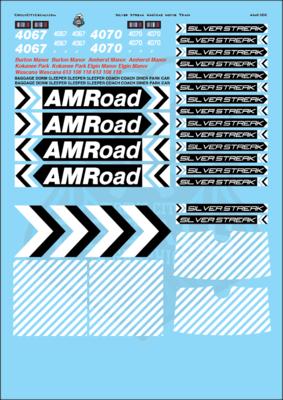 AMRoad Silver Streak Movie Train Decals Black O Scale
