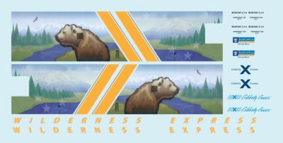 Alaska Railroad ARR Wilderness Express Dome O Decals Royal Caribbean Mckinley