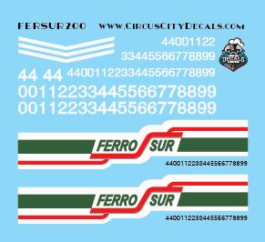 FerroSur Ferro Sur AC4400 Decals HO Scale