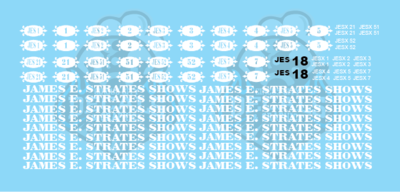 Strates Shows Carnival Coach Decal Set HO scale