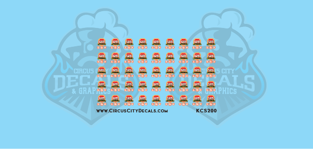 Kansas City Southern Autorack 125th Logo Decals HO Scale