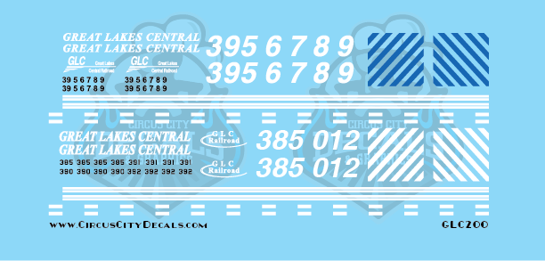 Great Lakes Central GP35 & GP38 HO Scale decals