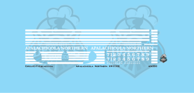 Apalachicola Northern Railroad SW1500 HO Scale