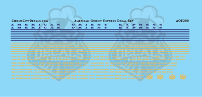 American Orient Express Passenger Car Decal Set HO Scale