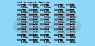 Norfolk Southern Autorack Logos N scale Decals