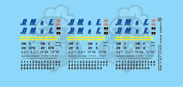 Dakota, Minnesota & Eastern 2 Bay Covered Hopper Decals DM&E