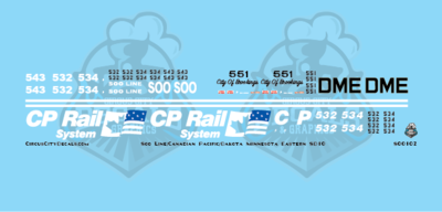 Soo Line/Canadian Pacific/Dakota Minnesota Eastern SD10 N Scale Decal Set