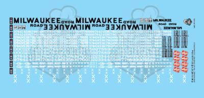 Milwaukee Road Locomotive MILW N Scale Decal Set