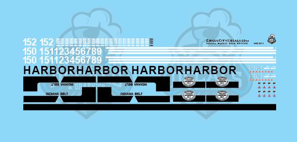 Indiana Harbor Belt SW1500 Locomotive HO Scale Decal Set