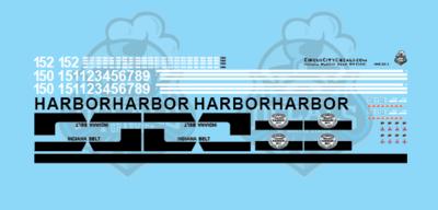 Indiana Harbor Belt SW1500 Locomotive N Scale Decal Set