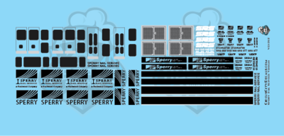 Sperry Rail Service Trucks Decal Set HO Scale