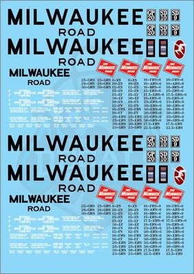 Milwaukee Road Locomotive MILW G Scale Decal Set