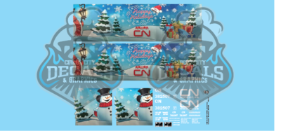 Canadian National CN Holiday Hopper O Scale Decal Set